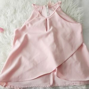 Pink Folded Front Tank